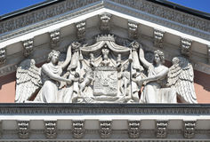 Fronton of palace in St. Petersburg Stock Images
