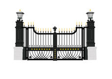 Frontowa brama Biały dom, usa prezydenta dom Obraz Royalty Free