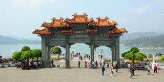 Frontowa brama Chińska Buddyjska świątynia Obrazy Royalty Free