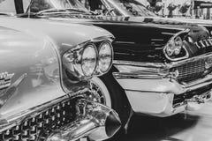 Frontowa część rocznika samochody zdjęcia royalty free