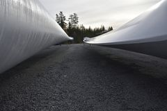 Frontowa i tylna strona śmigłowy ostrze wiatrowy generator Zdjęcie Royalty Free