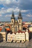frontowa kościół dama Prague nasz tyn zdjęcia stock