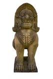 Frontowa singha rzeźba w świątyni na białym tle Obrazy Royalty Free