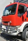 Frontowa strona firetruck Obrazy Stock