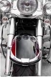frontowa strona klasyczny motorcycle/chrom i czerń bolimy zdjęcia stock