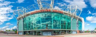 Frontowa strona Stary Trafford stadium Fotografia Royalty Free