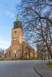 Frontowa strona Turku katedra w jesieni Zdjęcie Royalty Free