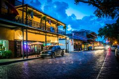 Frontowa ulica w Natchitoches Luizjana Zdjęcie Royalty Free