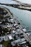 Frontowa ulicy i Taylor zatoczka w Beaufort NC obrazy royalty free