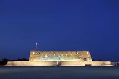 Frontowe fasady Arad fort w błękitnych godzinach Zdjęcia Royalty Free