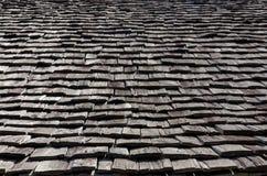 Frontowego widoku drewna perspektywiczny dach obraz stock