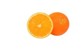 Frontowej sekci pomarańcze. Fotografia Royalty Free