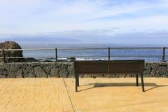 frontowy ławki morze Fotografia Stock