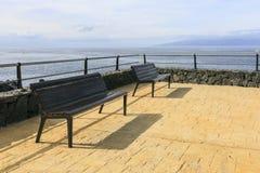 frontowy ławki morze Zdjęcia Stock
