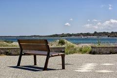 frontowy ławki morze Obrazy Stock