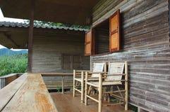 Frontowy Bambusowy Krzesło Zdjęcia Stock