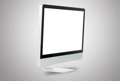 Frontowy biały komputerowy monitor obraz royalty free