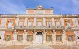 Frontowy façade Royal Palace Aranjuez w Madryt, Hiszpania Obraz Royalty Free