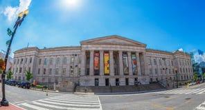 Frontowy fasadowy widok z National Portrait Gallery, washington dc, zdjęcia royalty free