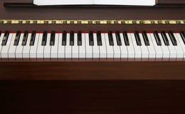 frontowy klawiaturowy pianino Fotografia Royalty Free