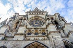 Frontowy kościół w Reims Obrazy Stock