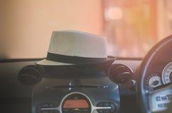 Frontowy konsola samochodu ekran, pojazd, technologia, głos, system, au Zdjęcia Stock
