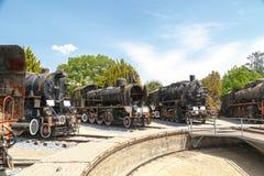 frontowy lokomotoryczny stary taborowy wive Obrazy Stock