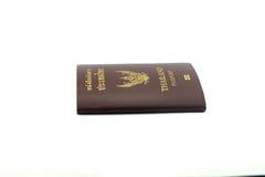Frontowy Paszportowy Biały tło Zdjęcia Stock