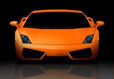 frontowy pomarańczowy supercar widok Obrazy Royalty Free