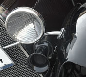 Frontowy reflektor retro samochód Obraz Royalty Free