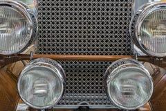 Frontowy szczegół Amerykański Klasyczny samochód Fotografia Stock
