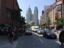 Frontowy uliczny w centrum Toronto Obrazy Royalty Free