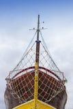 Frontowy widok, łęk, świeży malujący statek Zdjęcia Stock