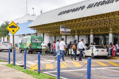 Frontowy widok Aeroporto Internacional De Campo Grande Zdjęcia Stock