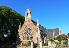 Frontowy widok Alloway Farny kościół, Alloway Obraz Stock
