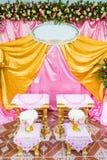 Frontowy widok bukiet dekoracja dla ręki dolewania w tajlandzkim ślubie Zdjęcie Stock