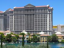Frontowy widok caesars palace hotel Las Vegas obraz royalty free