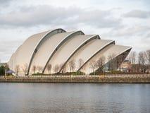 Frontowy widok Clyde audytorium, Glasgow Zdjęcia Stock