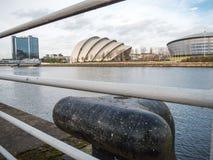 Frontowy widok Clyde audytorium, Glasgow Zdjęcia Royalty Free