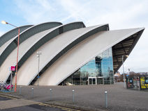 Frontowy widok Clyde audytorium, Glasgow Obraz Royalty Free