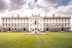 Frontowy widok Gibb budynek - uniwersytet Cambridge obraz stock