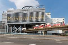 Frontowy widok Holenderska Królewska biblioteka w Haga zdjęcia stock