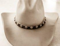 Frontowy widok kowbojski kapelusz Obrazy Royalty Free