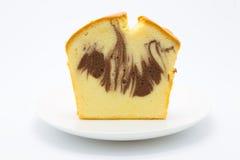 Frontowy widok marmurowy miękki masło tort obraz stock