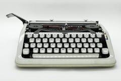 Frontowy widok maszyna do pisania maszyna zdjęcia royalty free