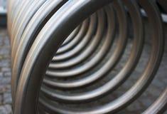 Frontowy widok metal spirala obrazy stock