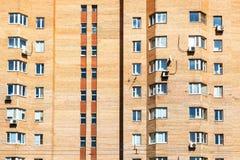 frontowy widok miastowy ceglany mieszkanie dom obrazy royalty free