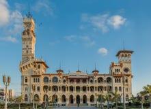 Frontowy widok Montazah pałac Zdjęcie Stock