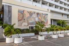 Frontowy widok Najważniejszy Hotelowy Ibadan Nigeria obraz stock