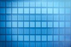 Frontowy widok nowożytna drapacz chmur dzielnica biznesu w dnia świetle Błękitna drapacz chmur fasada, budynki biurowi nowoczesne Obraz Stock